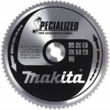 Makita Specialized körfűrésztácsa szendvicspanelhez ⌀270mm, fogszám: 60db, furat ⌀ 30mm