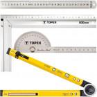 Topex vonalzók, derékszögek, szögmérők