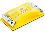 Topex 08A108 kézi csiszoló, 165x85 mm