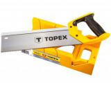Topex 10A710 illesztő fűrész gérládával, 9 TPi, 300 mm