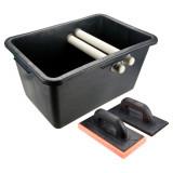 Topex 13A339 burkoló készlet: 40 literes vödör + gumis simító + szivacsos simító