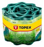 Topex 15A500 ágyásszegély, zöld, 10 cm x 9 m