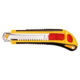 Topex 17B168 törhető pengéjű kés, műanyag ház, fém pengevezető, 18 mm