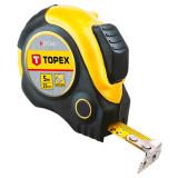 Topex 27C365 acél mérőszalag, mágneses, 5m/25mm