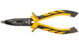 Topex 32D024 hajlított félkerekcsőrű fogó, 160 mm