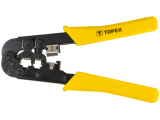 Topex 32D408 krimpelő fogó, 6P, 8P, 185 mm