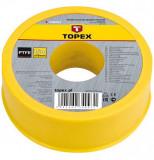 Topex 34D093 csőtömítő szalag, PTFE, 15 m x 19 mm x 0.2 mm