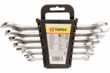 Topex 35D655 villáskulcs készlet, CrV acél, 6 részes