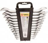 Topex 35D657 villáskulcs készlet, CrV acél, 12 részes