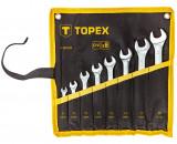 Topex 35D759 csillag-villáskulcs készlet, CrV acél, 8 részes