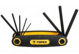 Topex 35D958 imbuszkulcs készlet, CrV acél, 8 részes