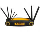 Topex 35D959 torxkulcs készlet, CrV acél, 8 részes