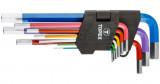 Topex 35D966 színkódolt imbuszkulcs készlet, CrV acél, 9 részes