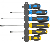 Topex 39D886 csavarhúzó készlet, CrV acél, 6 részes