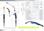 Pisztolyfej szigetelő forgatható nyakhoz (P250 DR)