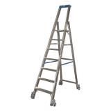STABILO Professional egy oldalon járható gurítható lépcsőfokos állólétra, 7 fokos
