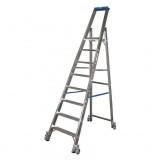 STABILO Professional egy oldalon járható gurítható lépcsőfokos állólétra, 8 fokos
