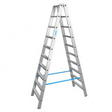 STABILO Professional két oldalon járható lépcsőfokos állólétra, 2x10 fokos