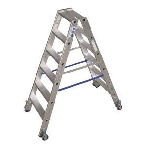 STABILO Professional két oldalon járható lépcsőfokos állólétra, gurítható, 2x6 fokos termék fő termékképe