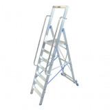STABILO Professional egy oldalon járható lépcsőfokos állólétra nagy dobogóval, 7 fokos