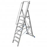 STABILO Professional egy oldalon járható lépcsőfokos állólétra nagy dobogóval, 8 fokos
