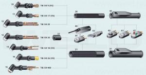 TBi TIG dupla nyomógomb burkolat SR26/SR17-hez termék fő termékképe