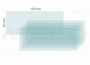 iWELD NORED EYE II belső védőplexi 103x42mm termék fő termékképe
