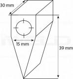 POLICLEAN tisztítófej (M10-30° kalapács forma) (1026SD)
