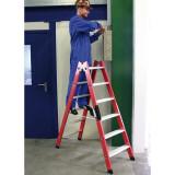 Két oldalon járható lépcsőfokos műanyag állólétra, 2x6 fokos