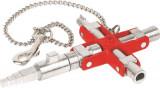 00 11 06 V01 Kapcsolószekrény kulcs, 4 ágú