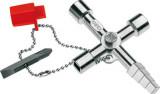 00 11 04 Kapcsolószekrény kulcs, 4 ágú
