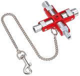 00 11 06 Kapcsolószekrény kulcs, 8 ágú