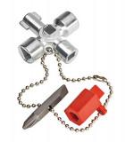00 11 02 Kapcsolószekrény kulcs, 4 ágú