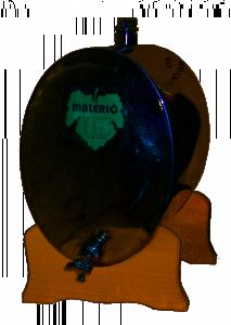 Hlavný obraz produktu oválna INOX nádrž 10 L (na destilát, olej)