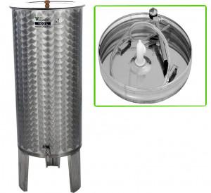 Hlavný obraz produktu Nerezová nádrž s plávajúcim vekom INOX, 100 l - typ duša