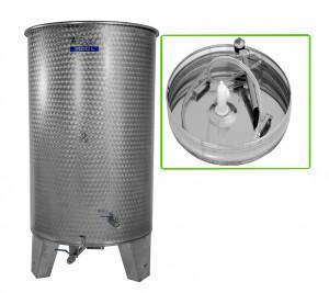 Hlavný obraz produktu Nerezová nádrž s plávajúcim vekom INOX, 1100 l - 3 ventil - typ duša