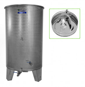 Hlavný obraz produktu Nerezová nádrž s plávajúcim vekom INOX, 1500 l - 4 ventil - typ duša