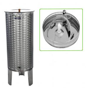 Hlavný obraz produktu Nerezová nádrž s plávajúcim vekom INOX, 150 l - typ duša