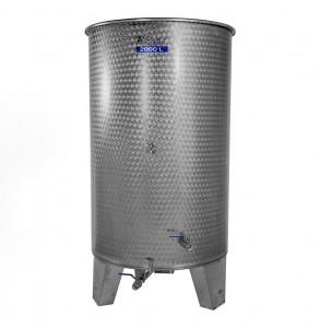 Hlavný obraz produktu Nerezová nádrž s plávajúcim vekom INOX, 2000 l - 4 ventil