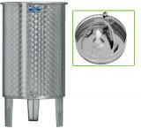 Nerezová nádrž s plávajúcim vekom INOX, 200 l - 1 ventil - typ duša