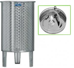 Hlavný obraz produktu Nerezová nádrž s plávajúcim vekom INOX, 200 l - 1 ventil - typ duša