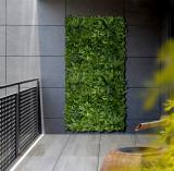Nortene Vertical Tropic zelená stena s tropickými rastlinami 1x1 m
