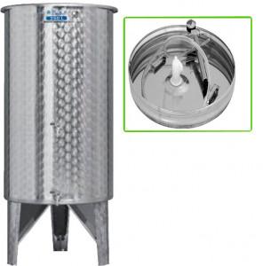 Hlavný obraz produktu Nerezová nádrž s plávajúcim vekom INOX, 250 l - 2 ventil - typ duša
