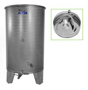 Hlavný obraz produktu Nerezová nádrž s plávajúcim vekom INOX, 2600 l - 4 ventil - typ duša