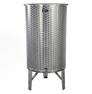 Hlavný obraz produktu Nerezová nádrž s plávajúcim vekom INOX, 300 l - 1 ventil
