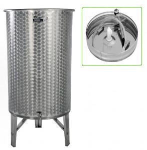 Hlavný obraz produktu Nerezová nádrž s plávajúcim vekom INOX, 300 l - 1 ventil - typ duša