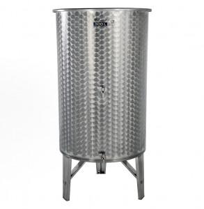 Hlavný obraz produktu Nerezová nádrž s plávajúcim vekom INOX, 300 l - 2 ventil