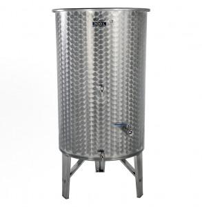 Hlavný obraz produktu Nerezová nádrž s plávajúcim vekom INOX, 300 l - 3 ventil