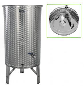 Hlavný obraz produktu Nerezová nádrž s plávajúcim vekom INOX, 300 l - 3 ventil - typ duša