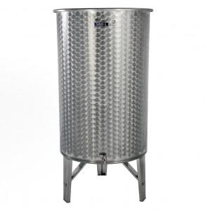 Hlavný obraz produktu Nerezová nádrž s plávajúcim vekom INOX, 380 l - 1 ventil